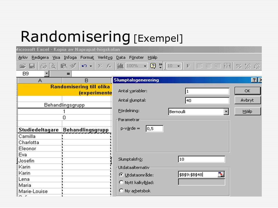 Randomisering [Exempel]